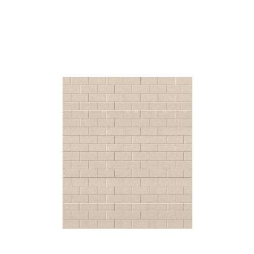 Monterey 60-in x 72-in Glue to Wall Tub Wall Panel, Butternut/Tile