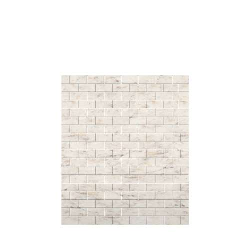 Monterey 60-in x 72-in Glue to Wall Tub Wall Panel, Butterscotch/Tile
