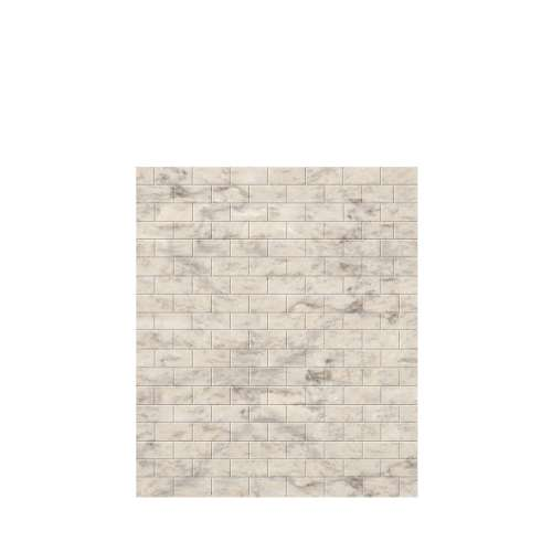 Monterey 60-in x 72-in Glue to Wall Tub Wall Panel, Creme/Tile