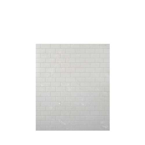 Monterey 60-in x 72-in Glue to Wall Tub Wall Panel, Moon Stone/Tile