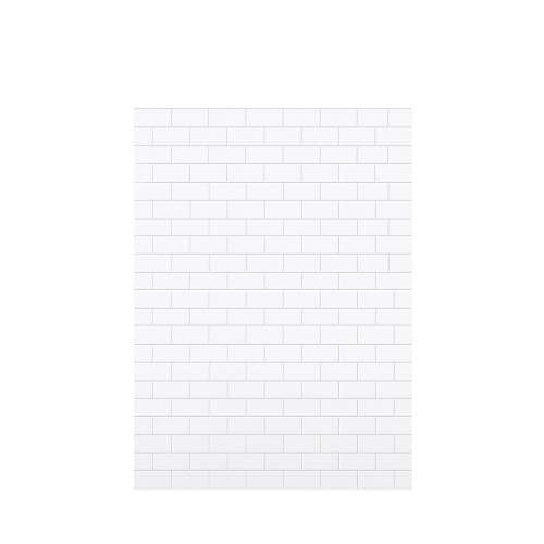 Monterey 60-in x 84-in Glue to Wall Tub Wall Panel, White/Tile