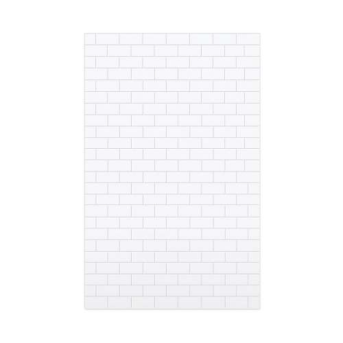 Monterey 60-in x 96-in Glue to Wall Wall Panel, White/Tile