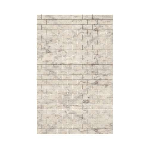 Monterey 60-in x 96-in Glue to Wall Wall Panel, Creme/Tile