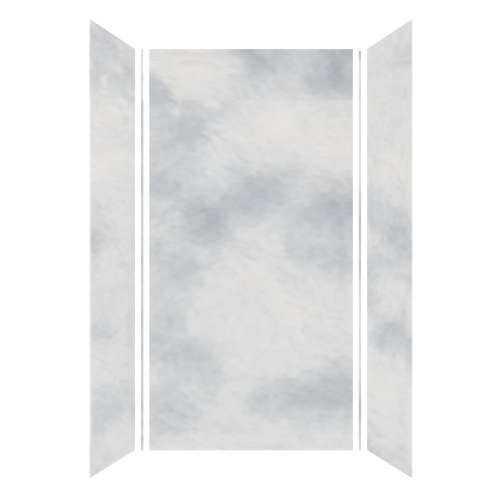 Monterey 48-in x 36-in x 96-in Glue to Wall 3-Piece Shower Wall Kit, Moon Stone/Velvet