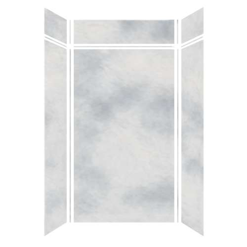 Monterey 48-in x 36-in x 84/12-in Glue to Wall 3-Piece Transition Shower Wall Kit, Moon Stone/Velvet
