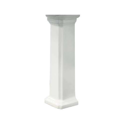 Samuel Mueller Hensley Vitreous China Pedestal Leg for use with TL-1484 Lavatory Sink, in White
