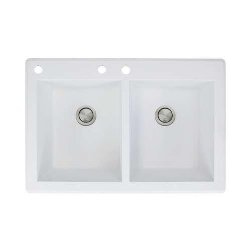 Samuel Mueller Renton Granite 33-in Drop-in Kitchen Sink - SMRTDE3322-CAB