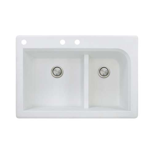 Samuel Mueller Renton Granite 33-in Drop-in Kitchen Sink - SMRTDJ3322-CAB