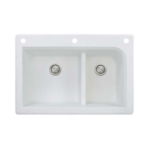 Samuel Mueller Renton Granite 33-in Drop-in Kitchen Sink - SMRTDJ3322-CAF