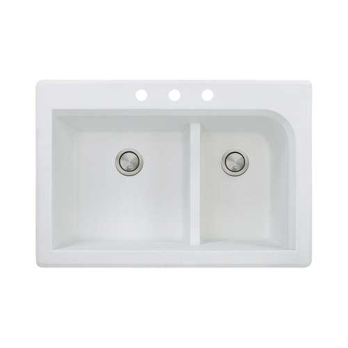 Samuel Mueller Renton Granite 33-in Drop-in Kitchen Sink - SMRTDJ3322-CBD