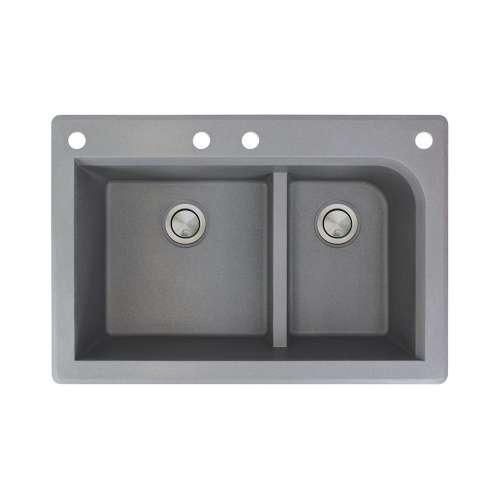 Samuel Mueller Renton Granite 33-in Drop-in Kitchen Sink - SMRTDJ3322-CABF