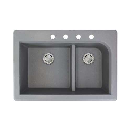 Samuel Mueller Renton Granite 33-in Drop-in Kitchen Sink - SMRTDJ3322-CBDE