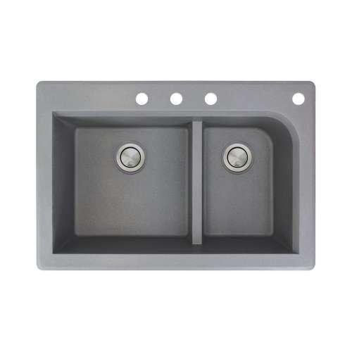 Samuel Mueller Renton Granite 33-in Drop-in Kitchen Sink - SMRTDJ3322-CBDF