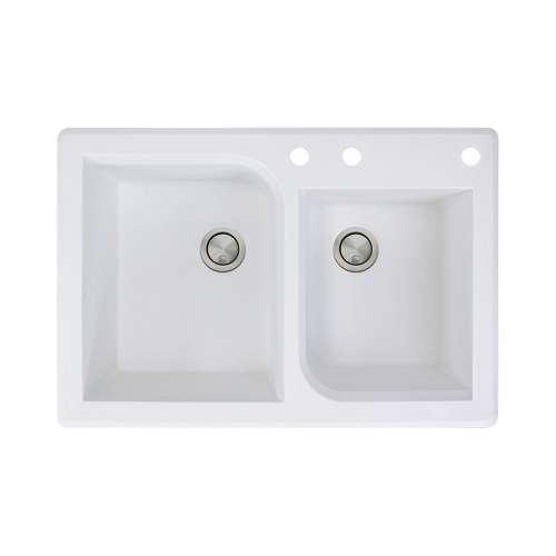 Samuel Mueller Renton Granite 33-in Drop-in Kitchen Sink - SMRTDO3322-ABD