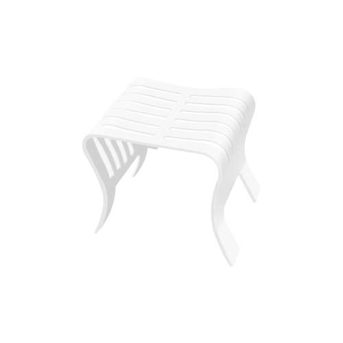 17-in x 14.375-in Portable Shower Seat, in White