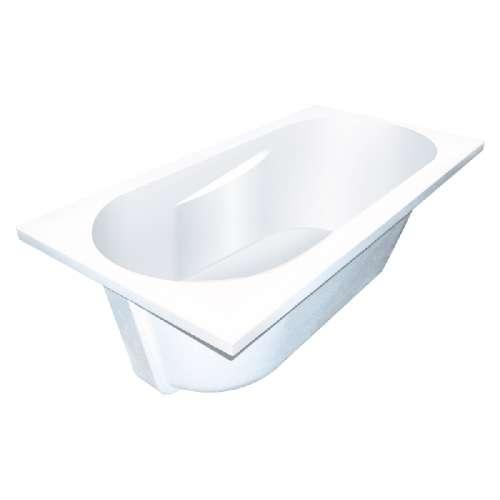 Samuel Mueller Blair 60-in L x 32-in W x 19-in H Resin Stone Drop-in/Undermount Bathtub with end drain, in White