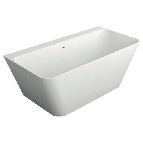Samuel Mueller Grayson 67-in L x 31.5-in W x 24-in H Resin Stone Freestanding Bathtub with center drain, in White