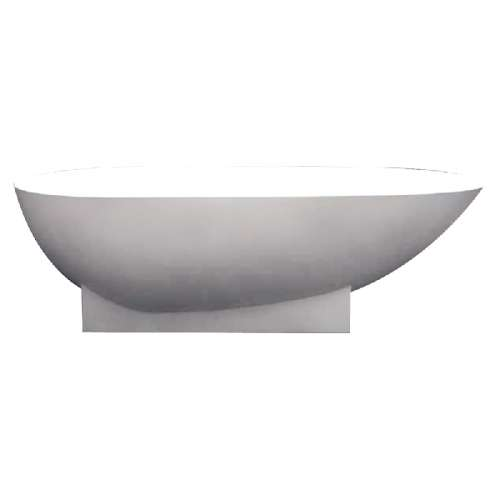 Samuel Mueller Shaw 72-in L x 36-in W x 20-in H Resin Stone Freestanding Bathtub with center drain, in White