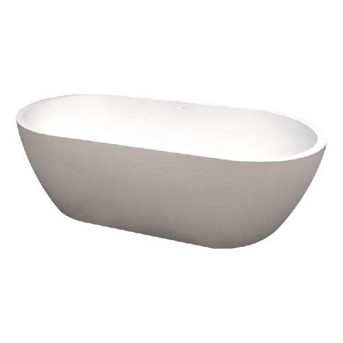 Samuel Mueller Sarah 63-in L x 32-in W x 21-in H Resin Stone Freestanding Bathtub with center drain, in White