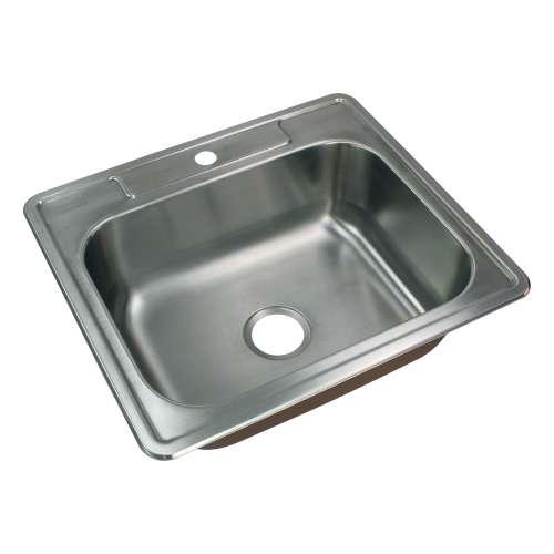 Samuel Mueller Silhouette 25in x 22in 18 Gauge Drop-in Single Bowl Kitchen Sink with 1 Faucet Hole