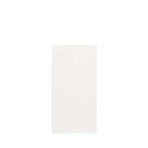 Silhouette 36-in x 72-in Glue to Wall Tub Wall Panel, White