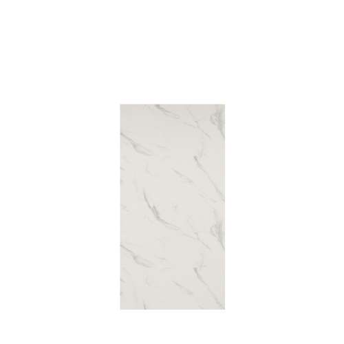Silhouette 36-in x 72-in Glue to Wall Tub Wall Panel, Pearl Stone