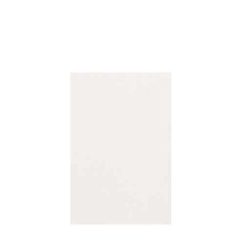 Silhouette 48-in x 72-in Glue to Wall Tub Wall Panel, White