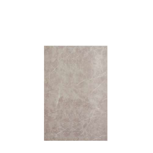 Silhouette 48-in x 72-in Glue to Wall Tub Wall Panel, Brown Stone