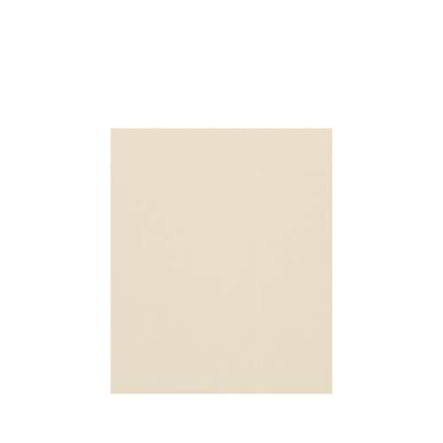 Silhouette 60-in x 72-in Glue to Wall Tub Wall Panel, Biscuit