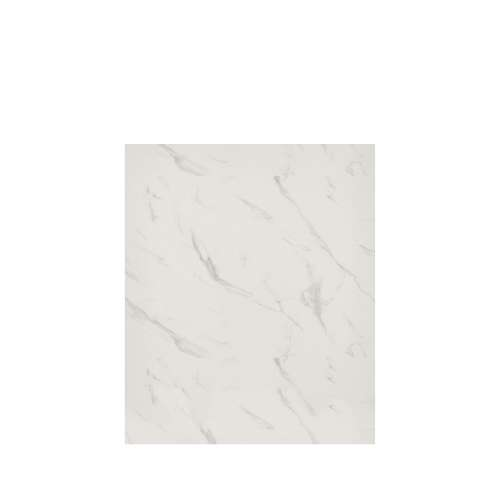 Silhouette 60-in x 72-in Glue to Wall Tub Wall Panel, Pearl Stone
