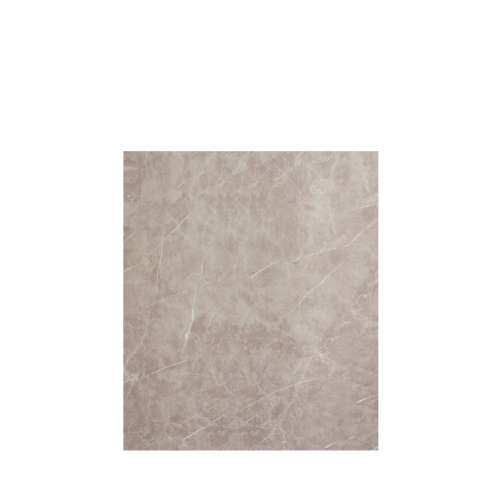 Silhouette 60-in x 72-in Glue to Wall Tub Wall Panel, Brown Stone