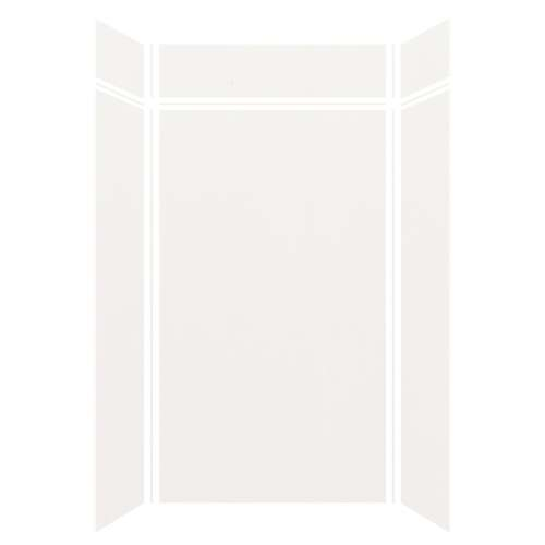 Silhouette 48-in x 36-in x 84/12-in Glue to Wall 3-Piece Transition Shower Wall Kit, White