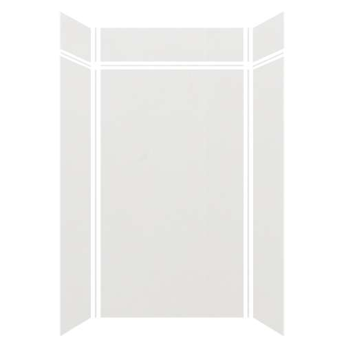 Silhouette 48-in x 36-in x 84/12-in Glue to Wall 3-Piece Transition Shower Wall Kit, Grey