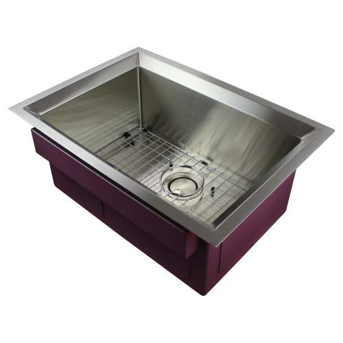 Samuel Mueller Luxura Stainless Steel 26-in Undermount Kitchen Sink