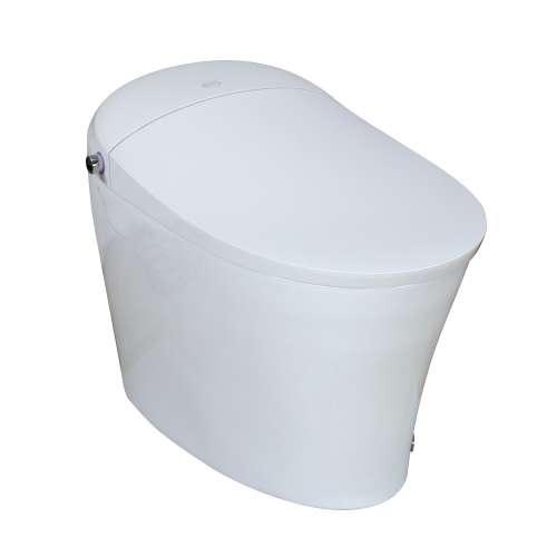 Samuel Mueller SM-77795-A Flagship 1-Piece Elongated Smart Bidet Toilet in White