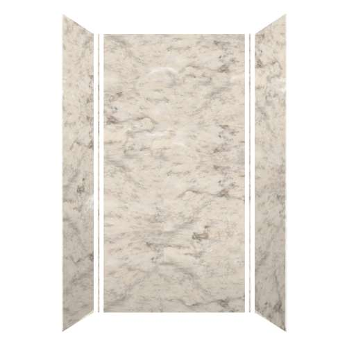 Monterey 48-in x 36-in x 96-in Glue to Wall 3-Piece Shower Wall Kit, Creme/Velvet