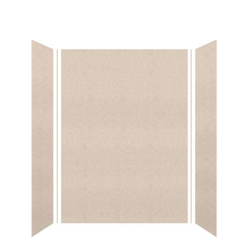 Monterey 60-in x 36-in x 84-in Glue to Wall 3-Piece Tub Wall Kit, Butternut/Velvet