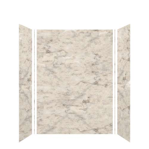 Monterey 60-in x 36-in x 84-in Glue to Wall 3-Piece Tub Wall Kit, Creme/Velvet