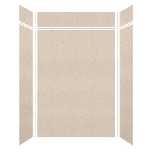 Monterey 60-in x 36-in x 84/12-in Glue to Wall 3-Piece Transition Shower Wall Kit, Butternut/Velvet