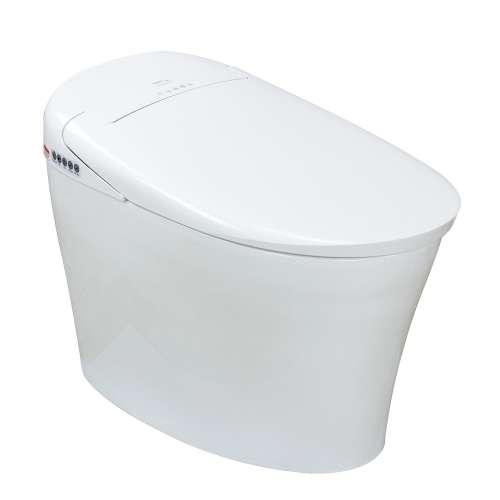 Samuel Mueller SMBSB-01 Burke 1-Piece Elongated Smart Bidet Toilet in White