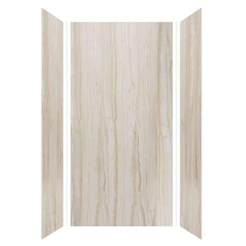 Silhouette 48-in x 36-in x 96-in Glue to Wall 3-Piece Shower Wall Kit, Jupiter Stone
