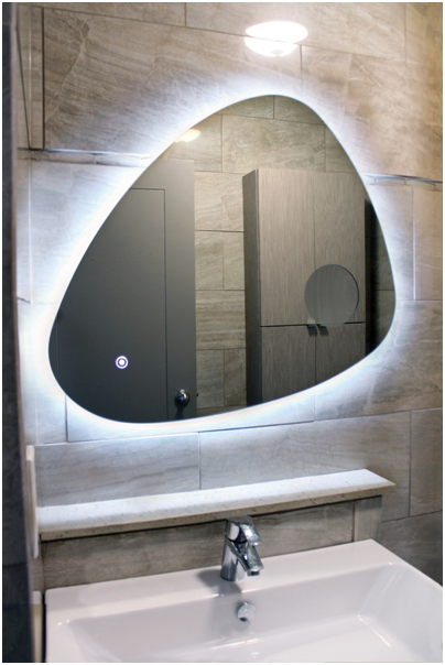 leed lighting bathroom mirror